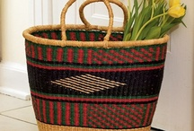 Baskets handmade in Africa / Inspiration from Africa...they had the lushiest basket weaving patterns!