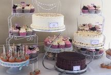 Wedding Dessert Tables / Wedding dessert tables. You don't have to stick to the traditional wedding cake - offer your guests a variety of celebratory desserts #wedding #weddings #desserts #cake