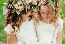 Flower Girls & Ring Bearers / From flower girl dresses, flower girl ideas, flower girl hairstyles, flower girl baskets, flower girl shoes, flower girl crowns to ring bearer outfits, ring bearer ideas, ring bearer pillows, ring bearer signs, and ring bearer boxes...everything you need to dress up your flower girl or ring bearer for the big day!