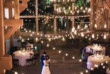 Light Up the Night / Everything is more romantic under the stars and pale moonlight. We've collected our favorite night time wedding ceremony and reception ideas for your inspiration!