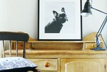 I Paint Dogs / black and white paintings