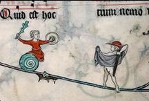 Scribal: Snail marginalia!!! / It needed the extra exclamation marks. Seriously. This may be my silliest board yet. / by Miriam Pike