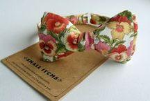 Цветочные бабочки / Для романтиков галстук-бабочки с цветочным принтом