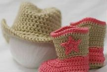 Crochet and knitting - boots