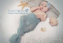 Mermaid Tail Crochet Patterns / Find mermaid tail crochet patterns for cocoons, blankets, costumes, and more for babies, toddlers, and young children. / by Crochetville