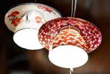 UPCYCLING LAMPS / Lámparas de la línea Koopera Upcycling y otras ideas realizadas con materiales reciclados.