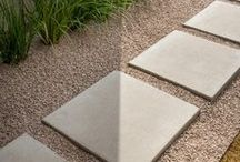 """24"""" Concrete Patio Stones / This hot trend in Patio Stones has been selling out all year. Popular for its ability to cover large areas fast and its cleaner finish due to the larger surface area.  Our patio stones are made to a 2"""" thickness to ensure durability and strength.  Check them out at our website http://stvrainblock.com/products_patio.html"""