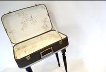 KOOPERA UPCYCLING SUITSCASES / Mesas maleta de la línea Koopera Upcycling con venta en Etsy.