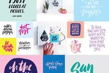 Hand Lettering / Inspirational hand lettering created by artists and designers from around the world.