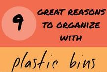 Organize Your Life / Whether it's your home, office, classroom or garden, the right plastic bin storage and organization can simplify your life. We've got great ideas and tips for your garage, kitchen, closet, college dorm, bathroom, bedroom and more. Check out our printables and diy projects to get started.