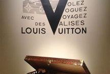 Louis Vuitton 2016 exhibition / Grand Palais, Paris. En ce temps-là, on voyageait en automobile, en chemin de fer ou en aéroplane et c'était un art, pas une industrie.