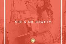 She's So Crafty / DIY crafts for the moxie creative who wants to make more than a statement.