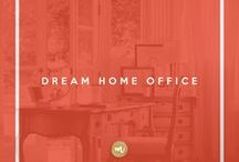 Dream Home Office / Classy, glam and inspiring office solutions for the womanpreneur girl boss who has shit handled.