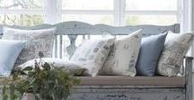 Summer Style / Summer style interiors, fabrics, floral, brights and stripes.