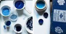 Inspirational Indigo / Indigo blue fabrics and use of the colour indigo in interior style and decoration.