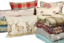 Country Cushions / LOVE these gorgeous country cushions for interiors, country rustic farmhouse style