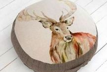 Design Trend - Woodland / Interior Design trend that brings a forest feel into your home with fabrics and accessories.