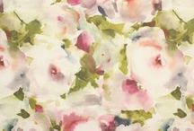 Watercolour print / Watercolour  designs in the style of water colour paints on fabric.