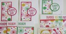 One Sheet Wonders / One sheet wonder projects i've created using Stampin' Up! products