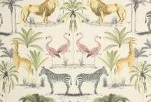 Illustration on Cloth / Illustration on fabrics for interiors