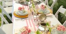 Summer Dining / Summer style for interior and garden meals and feasts.