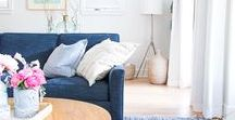 Colour inspiration - Blue / Blue interiors and blue accessories and blue fabrics for the home. For blue lovers, styles and designs for interior styling.