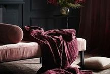 Design Trend - Dark and Moody / Dark colour painted walls, curtains and furniture. The modern trend for dark interiors.