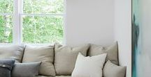Colour Inspiration - White / White, the minimalist backdrop perfect for toning with any accent colours. Interiors using this colour.