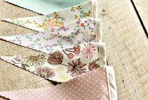 Bunting / Bunting fabrics, inspiration, tutorials and templates