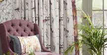 Voyage Decoration fabrics / Fabrics from one of our favourite designers, Voyage Decoration. For interiors, curtains, blinds, upholstery. Voyage decoration fabrics suit country style living rooms and use watercolour art as prints on their fabric design.