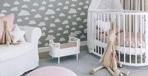 It's a girl! / Decorating a nursery for a baby girl. It doesn't have to be all pink. Ideas, interiors, inspiration, fabrics, colours, products for a perfect room.