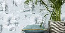 Design Trend - Modern Oriental / Modern oriental room interior trend. Bright colours, delicate details, metallic silks, exotic prints, portable furniture, bamboo details, blossoms, chinoiserie, birds and butterflies.