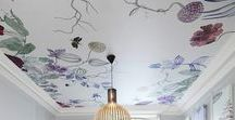 Interior Trend - Feature Ceilings / Big news  - Look up it's all about those fabulous ceilings. Wallpaper, paint, fabulous plaster and cornice detailing. Just no one tell us artex is coming back.
