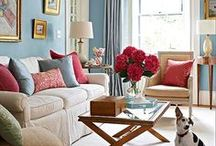 Blue & Blush - Colour Couples / Coupling the colours blue and pink in interiors. Room schemes that use these two colours together. Walls, curtains, accessories and more inspiration for your home.