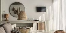 Design Trend - Tribal / Tribal trends in interiors. Animal stripes and prints, ethnic prints, woven grass baskets. African inspired decor, mudcloth, ikat black earthy browns, natural neutrals, and iron rich reds.