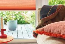 Apollo Blinds Reds, Oranges / Warm and Vibrant Window Dressing