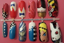 Nail Art by Sanz / Find something you love? Buy yourself a set of acrylic nails with the design of your choice here: http://www.etsy.com/shop/PolishBomb  https://www.facebook.com/PolishBomb