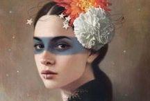 paint / flowers / by Corlia Peters-Scaf