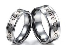 Couple Rings / Lovers Rings / fashion, classic wedding bands, engagement rings, anniversary rings, promise rings including tungsten, ceramic materials / by FOLLOW BEST