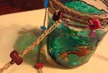 Frascos y botellas / Decoración de frascos y botellas con lo que se tenga