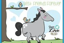 Share the Love / Share the Love with your friends and family this Valentine's Day (or any day, really). Check out our free activity sheet, coloring page, mad libs, printable valentine's day cards, and paper horse craft!
