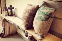 DIY: Burlap Coffee Bags / Crafty ideas and DIY projects to repurpose Winans burlap coffee bags. Pick up a bag at one of our Miami County locations!