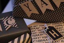 Inpakken / Leuke manier om cadeautjes in te pakken.