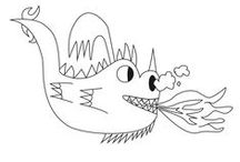 Coloring Pages / Creative coloring pages to spark the imagination! Monsters, aliens, dragons, & fantasy.