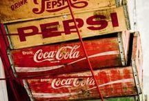 COCA COLA CRATES / Idea's of creative ways to use vintage Coca Cola and soda crates.