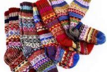 Sokker / Sokker, lester, tøfler osv. Ideer til mønstre og farger.