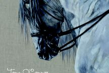Equine Art Calendar Tony O'Connor / Tony's annual calendar, a must-have for horse lovers. Beautiful & functional. Each one autographed by the artist. High quality print on fade-resistant paper. Ships worldwide. www.whitetreestudio.ie