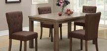"♥DINING ROOM♥ / Entertain in style this Holiday Season! Take an additional 5% OFF all Dining Room Furniture when you use the Promo Code ""turkey"" at check out! No need to revamp your older furniture, when you can buy new at the lowest prices in all of DFW! WW.SAVVYSHOPPERDIRECT.COM"
