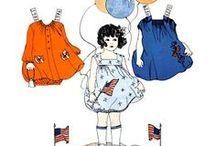 paper dolls / bambole di carta da vestire