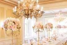 It's all about elegance. / Stunning styling and the ultimate elegant atmosphere....  all in shades if white & pale peach with hints of black and grey.